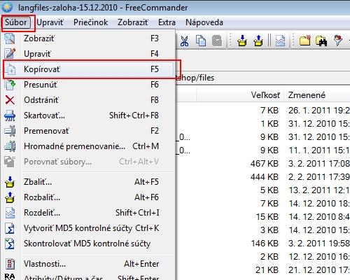 kopírovanie obrázkov na FTP